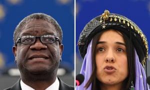 Denis Mukwege and Nadia Murad.