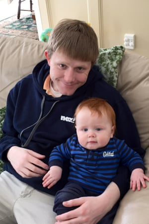 Troy Goode with his son.