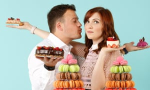 Sweet treats: Bisous Bisous' Alex Moreau and Kirsty McAlpine.