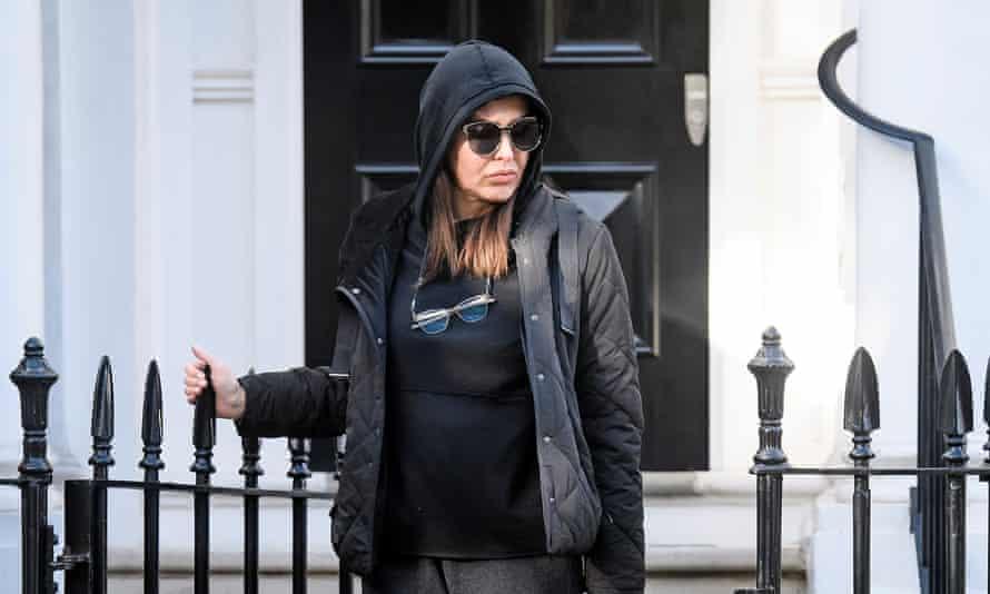 Zamira Hajiyeva outside her home near Harrods in London.