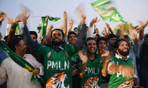 PML-N supporters at a campaign rally in Pindi Gheb, in Punjab province