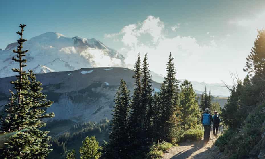 The Wonderland Trail close to Mt Rainier.
