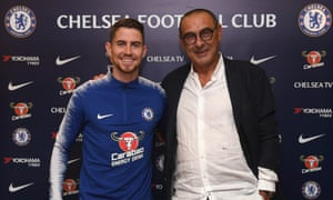 Chelsea unveil midfielder Jorginho and new head coach Maurizio Sarri, who have both joined from Napoli.