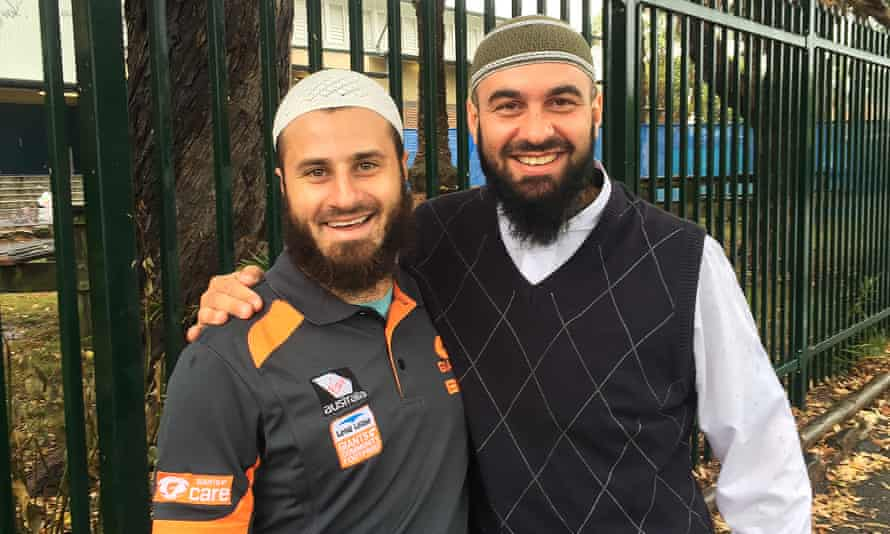 Community worker Emad Elkheir and Sheikh Wissam Charkawi, who are involved in grassroots programs to bolster social cohesion among youngsters in their community.