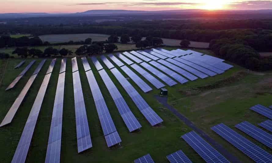 A solar power array.
