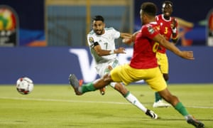 Image result for Algeria scores in key moments to down Guinea