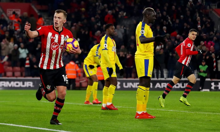0d488f7223 Wilfried Zaha sees red after Southampton's James Ward-Prowse denies Palace    Football   The Guardian