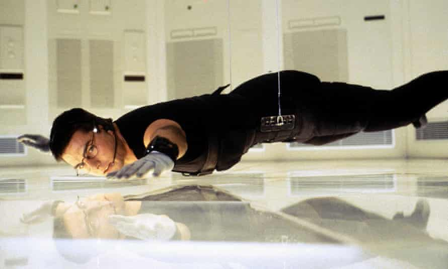 Tom Cruise as Ethan Hunt in Mission: Impossible.