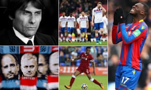 Chelsea manager Antonio Conte has only the FA Cup to look forward to, Stoke City have not had a lot to smile about either, Crystal Palace's Christian Benteke rues a missed chance, Liverpool's Nathaniel Clyne could return in the Merseyside derby and Manchester City could win the title against their neighbours.