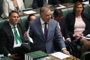 Opposition leader Anthony Albanese during question time in the House of Representatives.