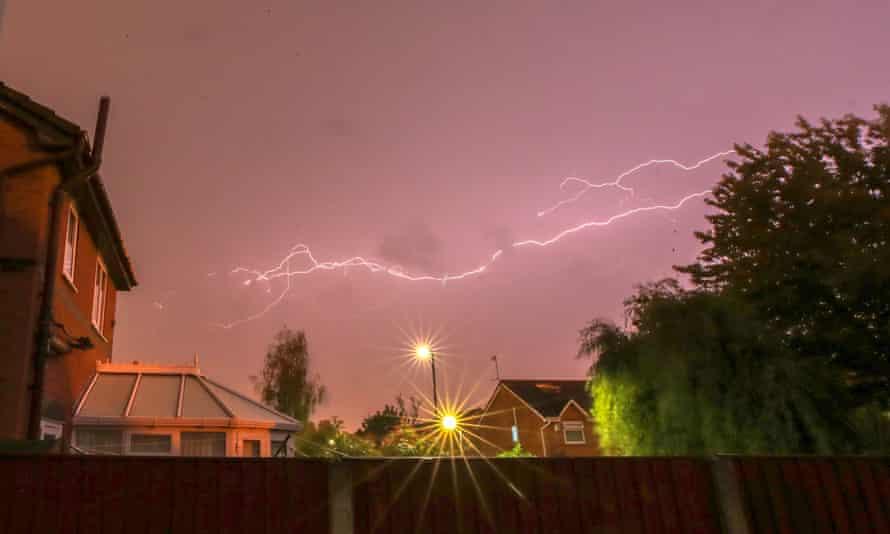 Lightning over Liverpool on Tuesday night