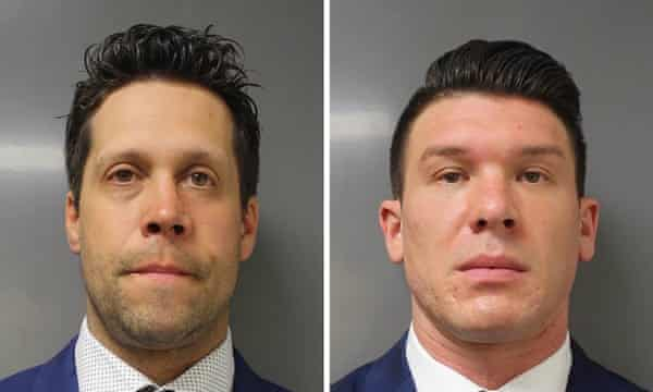 Officers Aaron Torgalski (L) and Robert McCabe (R).