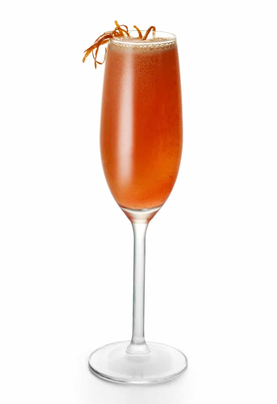Walter Pintus' smoked blood orange mimosa.