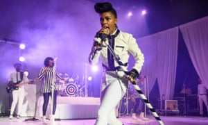 Janelle Monáe performing in Washington, 2019.