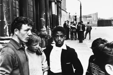 Men and boys in Southam Street, London, 1959.