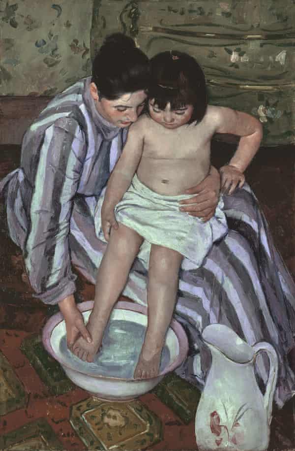 Mary Cassatt's The Child's Bath, painted in 1893.
