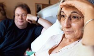 Jenny Diski with her husband Ian Patterson.