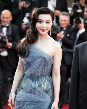 Fan Bingbing, star of Sky Hunter, at this year's Cannes film festival.