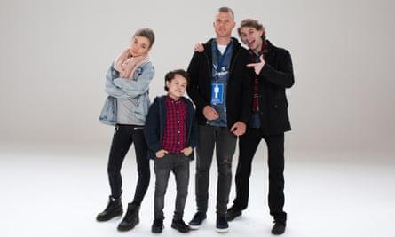 Chloe Hayden, Sam Humphrey, Nick Boshier and Adam Bowes in Jeremy the Dud