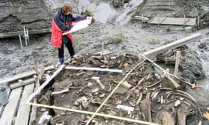 The archaeological site near the Yana River in Siberia where two 31,000-year-old milk teeth were found.