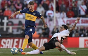 Alexis Mac Allister playing for Boca Juniors