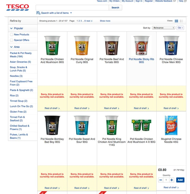 Tesco Website Max points for best answer?