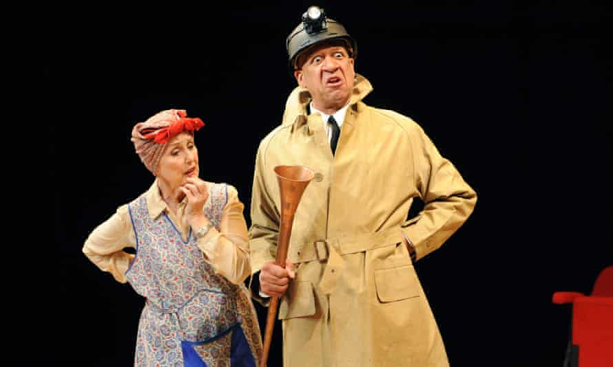 Una Stubbs and Derek Griffiths in The Real Inspector Hound at the Minerva theatre, Chichester, in 2010.
