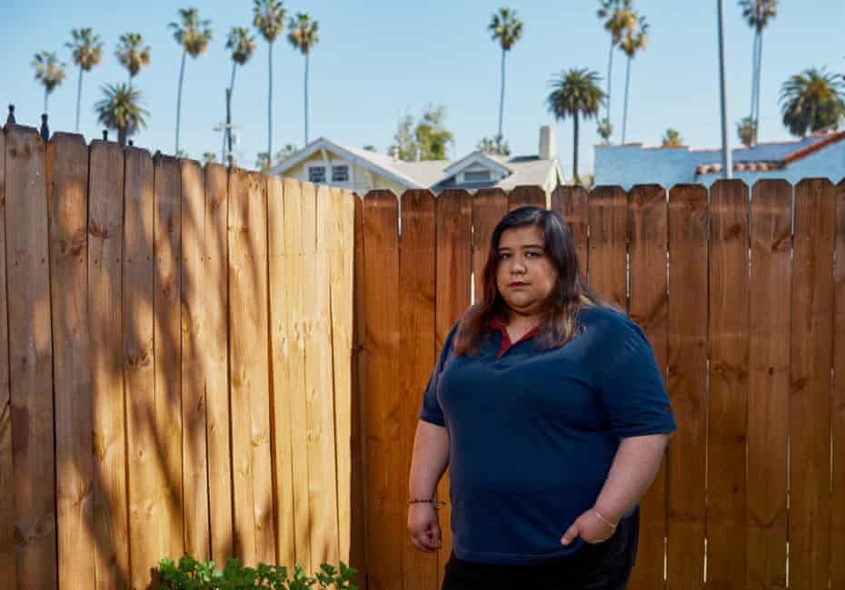 Lauren Alcala, photographed in front of her Los Angeles home