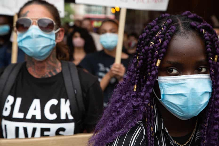 Black Lives Matter protesters in central London in July.