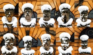 The photographs of snow-covered emperors' heads outside the Sheldonian Theatre in Oxford that appeared on the Guardian letters page on 7 February.