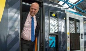 Transport secretary Chris Grayling at Waterloo station.