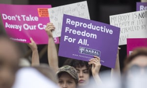 Protestors rally outside of the Georgia state capitol following the signing of HB 481, which bans abortions once a fetal heartbeat can be detected.