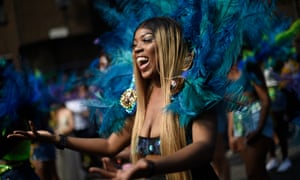 A performer takes part in the carnival