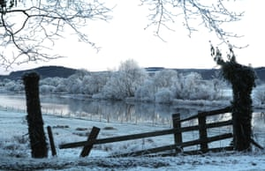 The River Forth in Stirling after overnight snow