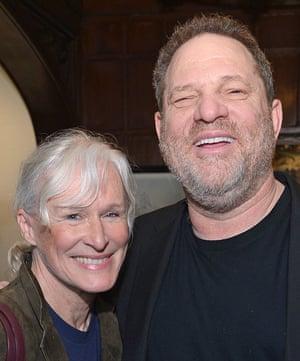 Glenn Close with Harvey Weinstein in 2013.