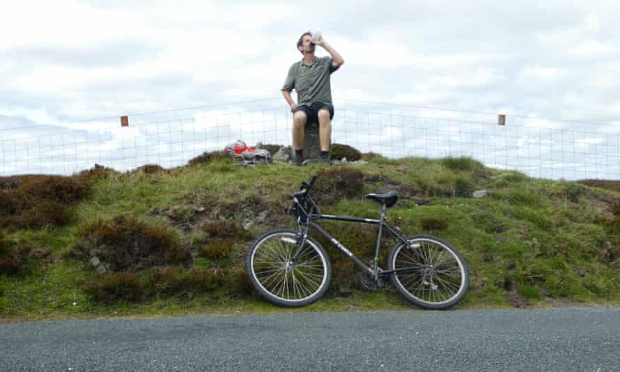 Our writer takes a break on the summit above Askrigg