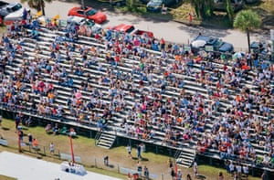 Fans crowd the bleachers in 2008, the average attendance is around 6000