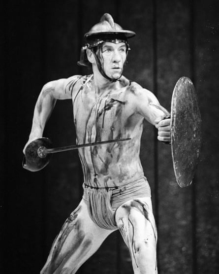 Ian McKellen as Coriolanus at the National Theatre, London, in 1984.