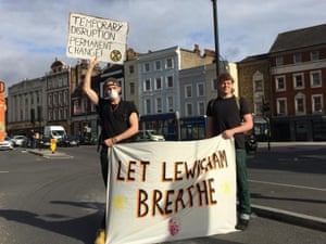 Around 50 protesters took part in the action, which began at 7.30am.