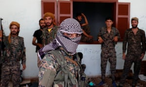 Kurdish fighters in Raqqa, Syria, where they have been making steady inroads against Isis.