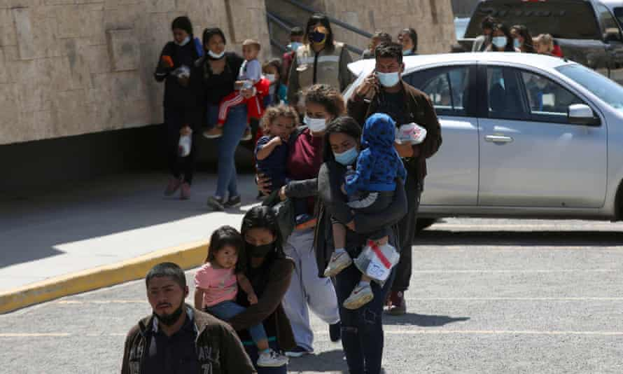 Central American migrants expelled from the US under Title 42 at the National Migration Institute station in Ciudad Juarez, Mexico.