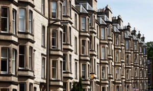 Tenements in Edinburgh. The average house price in Scotland rose 2.2% to £152,000.