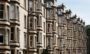 Victorian tenements in Edinburgh