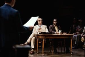 Jeff Daniels and Gbenga Akinnagbe in To Kill a Mockingbird.