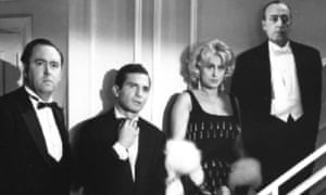 John Francis Lane, left, with from left: Ben Gazzara, Anna Magnani and Totò