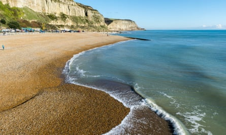 Hastings beach, East Sussex.