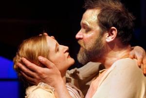 Naomi Frederick and Matthew Flynn in Harley Granville Barker's Agnes Colander at Theatre Royal, Bath.