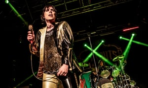 Luke Spiller with the Struts performing in Milan.