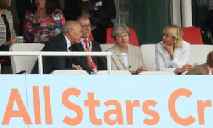 Prime Minister Theresa May during day two of the thrid test at Lords.