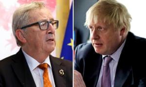 Juncker and Boris Johnson